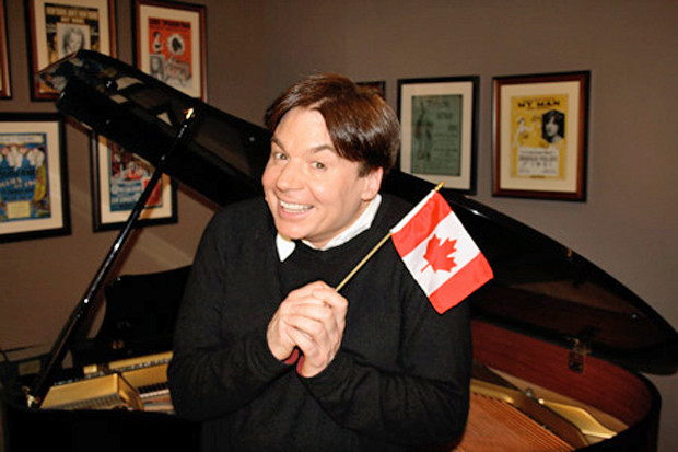 """Mike Myers in """"Being Canadian"""""""