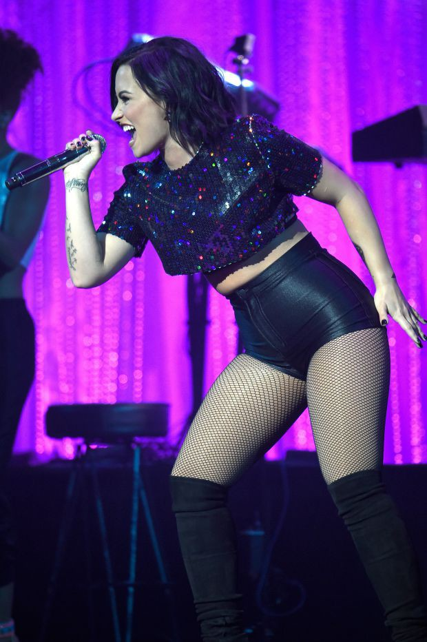 Demi Lovato performs onstage during Samsung Hope For Children Gala 2015 at Hammerstein Ballroom on September 17, 2015 in New York City.
