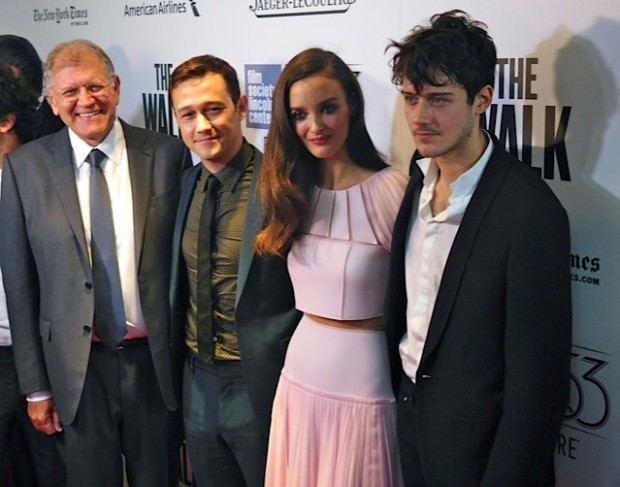 "Robert Zemeckis, Joseph Gordon-Levitt and Charlotte Le Bon at the NYFF Premiere of ""The Walk"" 