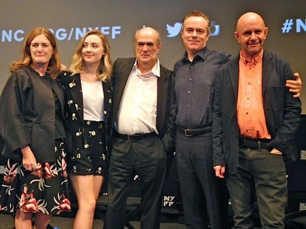 "NY Film Festival: Finola Dwyer, Saoirse Ronan, Colm Toibin, John Crowley and Nick Hornby at the ""Brooklyn"" Premiere | Paula Schwartz Photo"