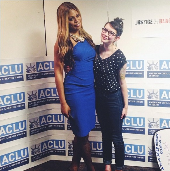 Laverne Cox and Danika McClure (Insert stealth brag about meeting the most fabulous human on the planet.) | Danika McClure Photo