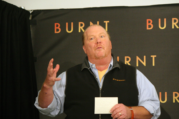 "Mario Batali at the NY press conference for ""Burnt"" 