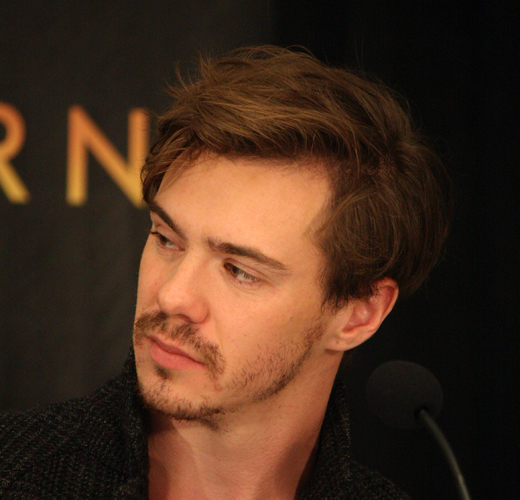 "Sam Keeley at the NY press conference for ""Burnt"" 