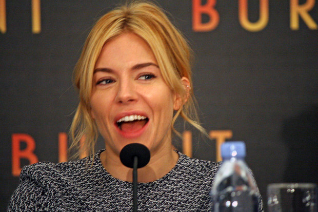 "Sienna Miller at the NY press conference for ""Burnt"" 