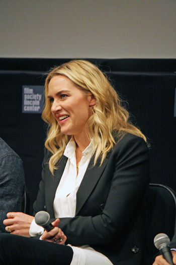 "Kate Winslet at the ""Steve Jobs"" press conference at the 2015 New York Film Festival 