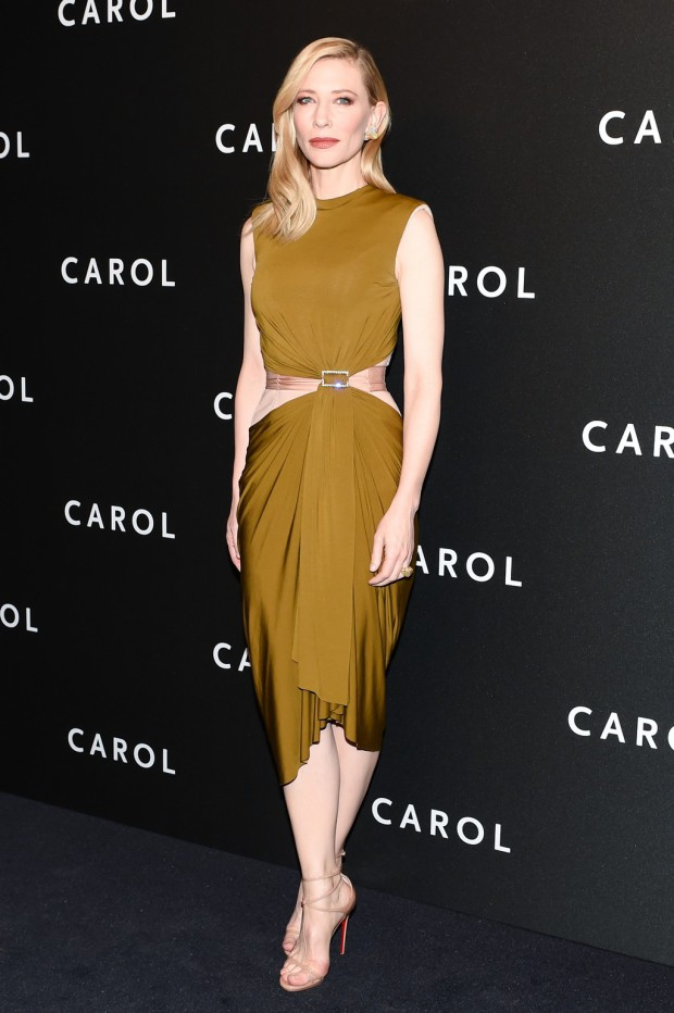 "Cate Blanchett on the ""Carol"" red carpet"