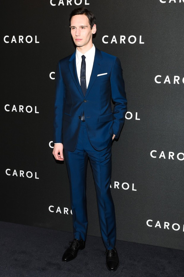 "Cory Michael Smith on the ""Carol"" red carpet 