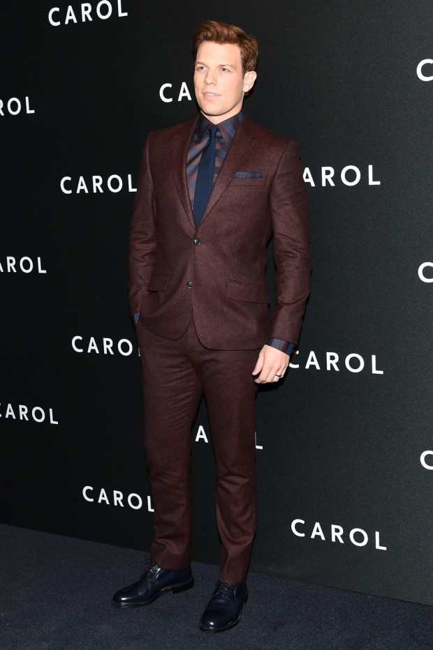 "Jake Lacy on the ""Carol"" red carpet 