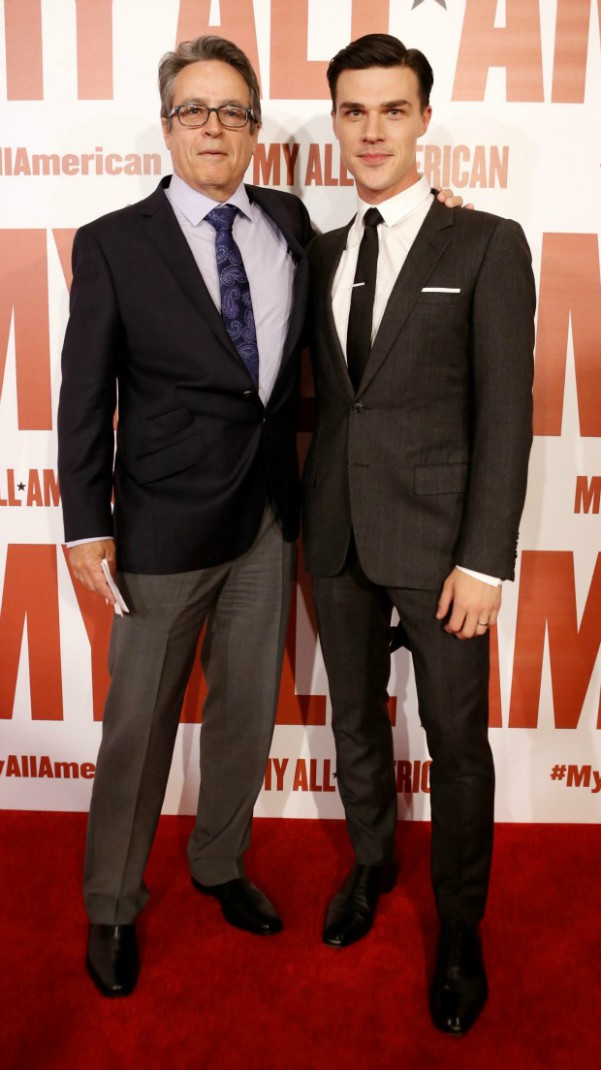 Angelo Pizzo and Finn Wittrock seen at Clarius Entertainment Los Angeles Premiere of 'My All American' at The Grove on Monday, November 9, 2015, in Los Angeles, CA. (Photo by Eric Charbonneau/Invision for Clarius Entertainment/AP Images)