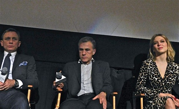 """Daniel Craig, Christoph Waltz and Lea Sedoux at the """"Spectre' Q&A in NYC 