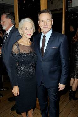 "Helen Mirren and Bryan Cranston at the ""Trumbo"" premiere 