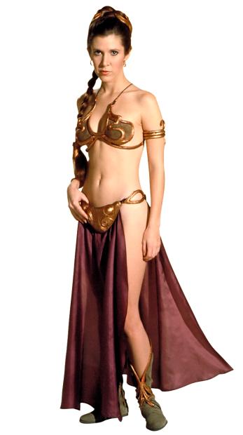 Carrie Fisher in the Princess Leia bikini