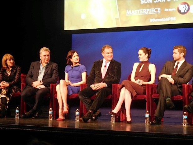 """Downton Abbey"" cast answers questions at a Q&A Dec. 22, 2015 | Paula Schwartz Photo"