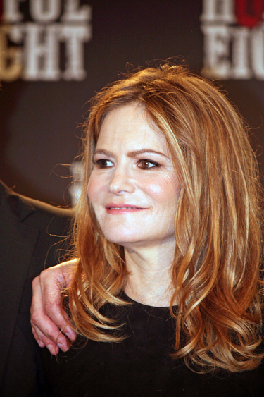 "Jennifer Jason Leigh at the New York press conference for ""The Hateful Eight"" 