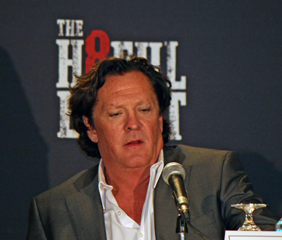 "Michael Madsen at the New York press conference for ""The Hateful Eight"" 