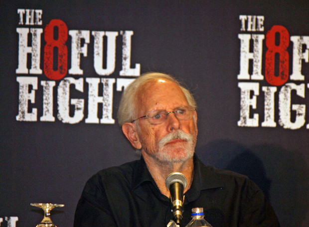 "Bruce Dern at the New York press conference for ""The Hateful Eight"" 