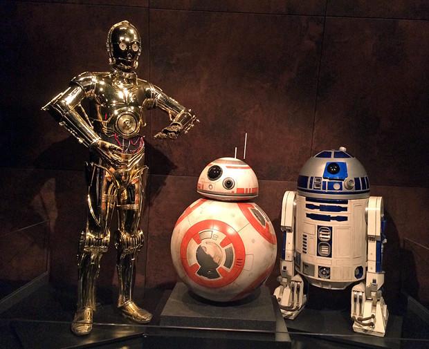 C-3PO, BB-8, and R2-D2 at the Star Wars and the Power of Costume exhibit | Melanie Votaw Photo