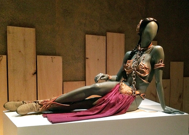 Carrie Fisher's iconic Princess Leia bikini at the Star Wars and the Power of Costume exhibit in New York | Melanie Votaw Photo