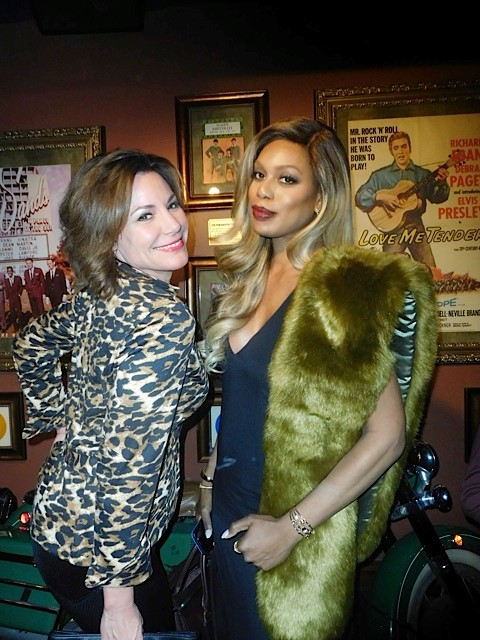LuAnn de Lesseps and Laverne Cox at the NYC 'School of Rock' Opening Night | Paula Schwartz Photo
