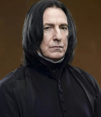 "Alan Rickman as Severus Snape in the ""Harry Potter"" films"