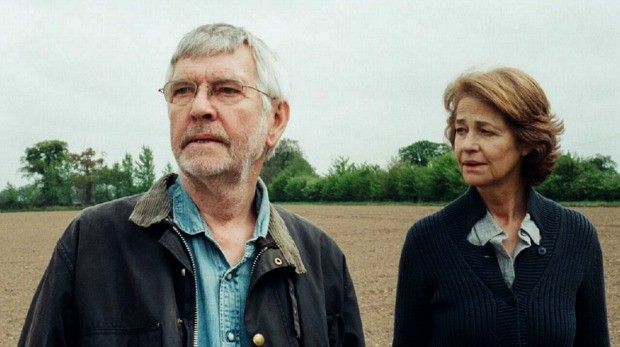 "Tom Courtenay and Charlotte Rampling in ""45 Years"""