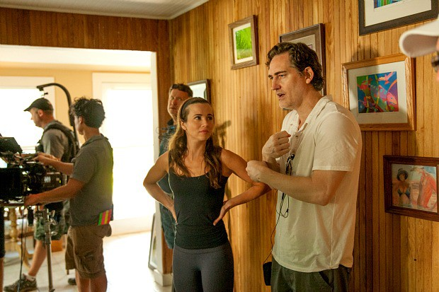 Linda Cardellini with Daniel Zelman on the set of the Netflix Original Series BLOODLINE. Photo credit: Saeed Adyani
