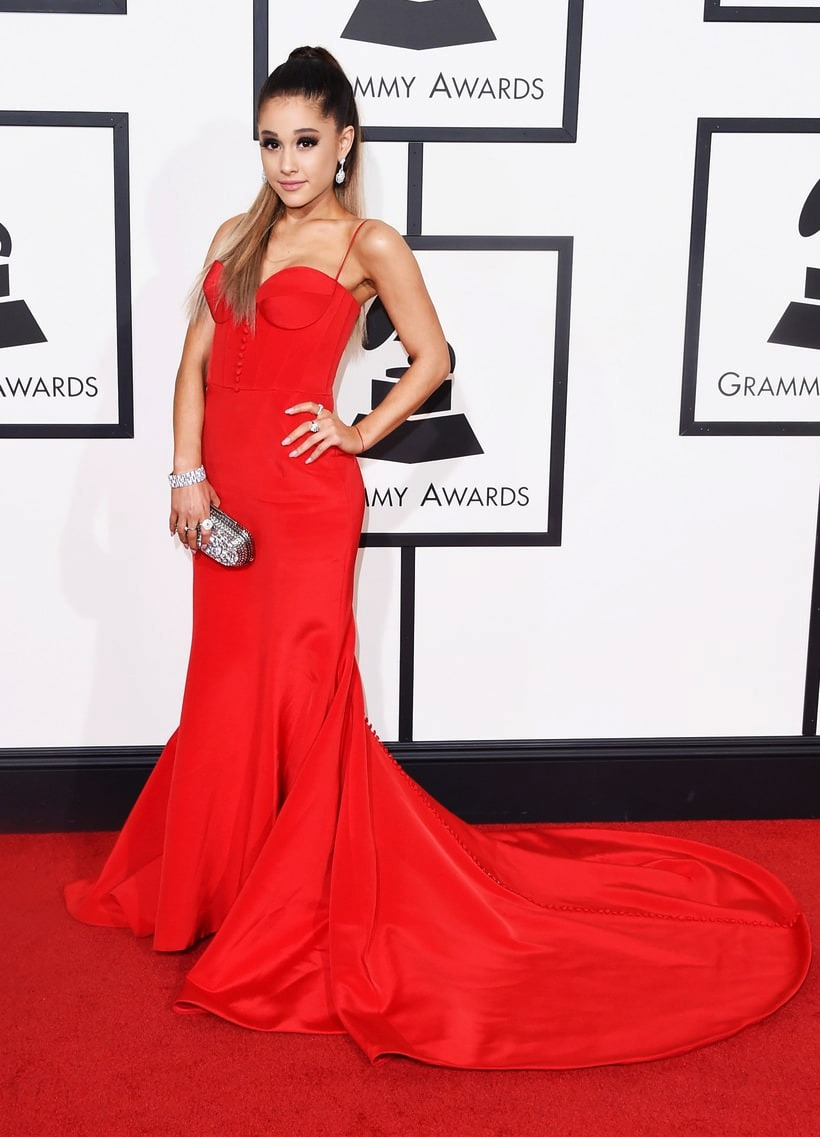 Ariana Grande, 2016 Grammy Awards, Red Carpet