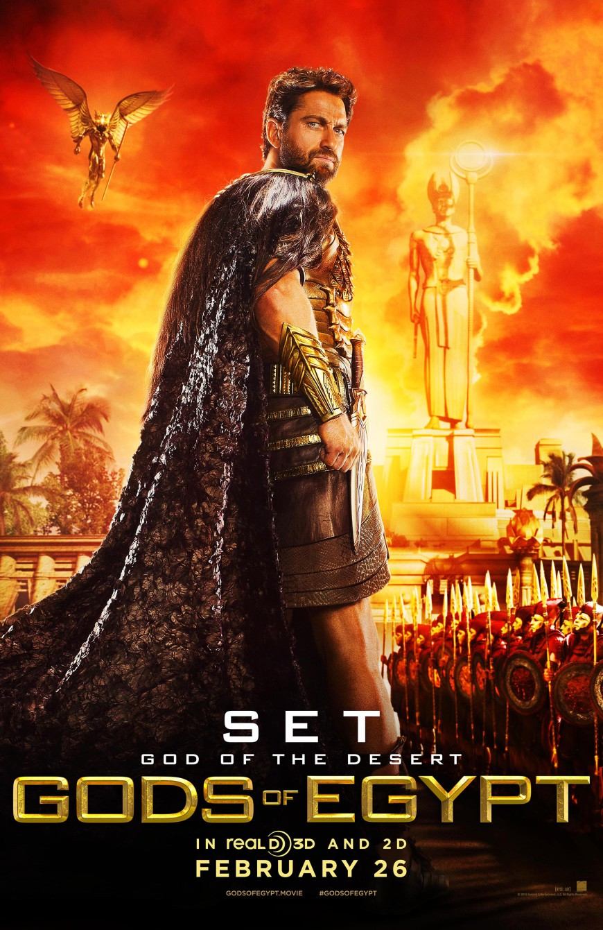 New Movies this week include 'Gods of Egypt'