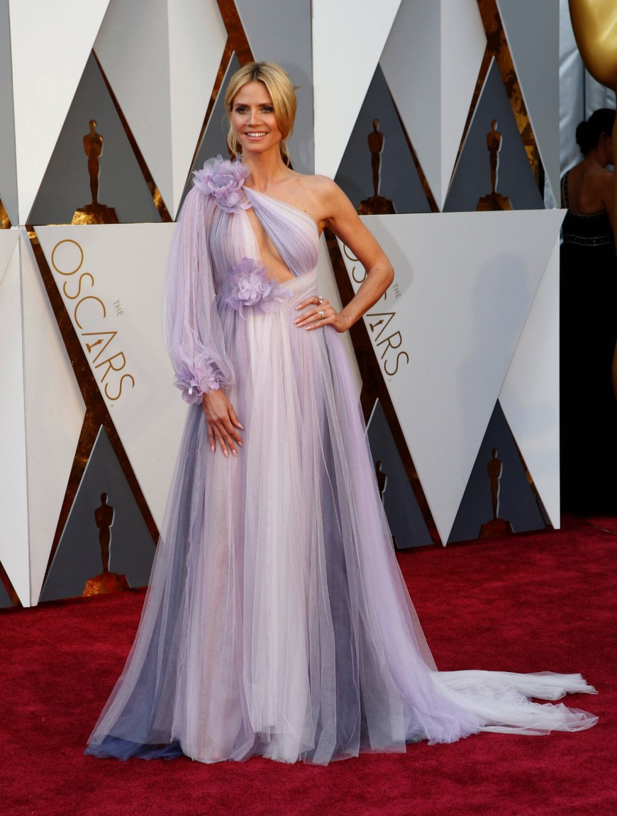 Heidi Klum, Versace, Oscars 2016