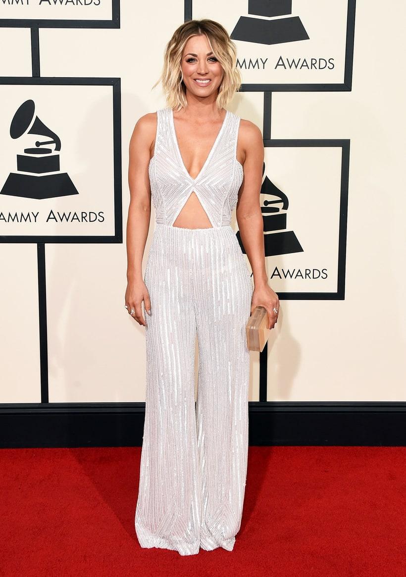 Kaley Cuoco, 2016 Grammy Awards, Red Carpet