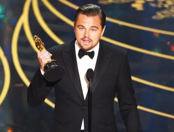 Leonardo DiCaprio, Best Actor, The Revenant, Oscars 2016