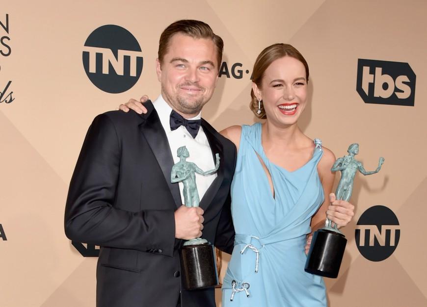 SAG Awards 2016 Leonardo DiCaprio Brie Larson