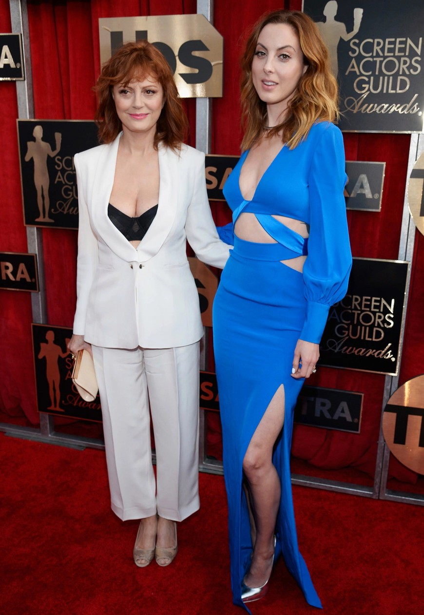 Susan Sarandon Cleavage SAG Awards 2016