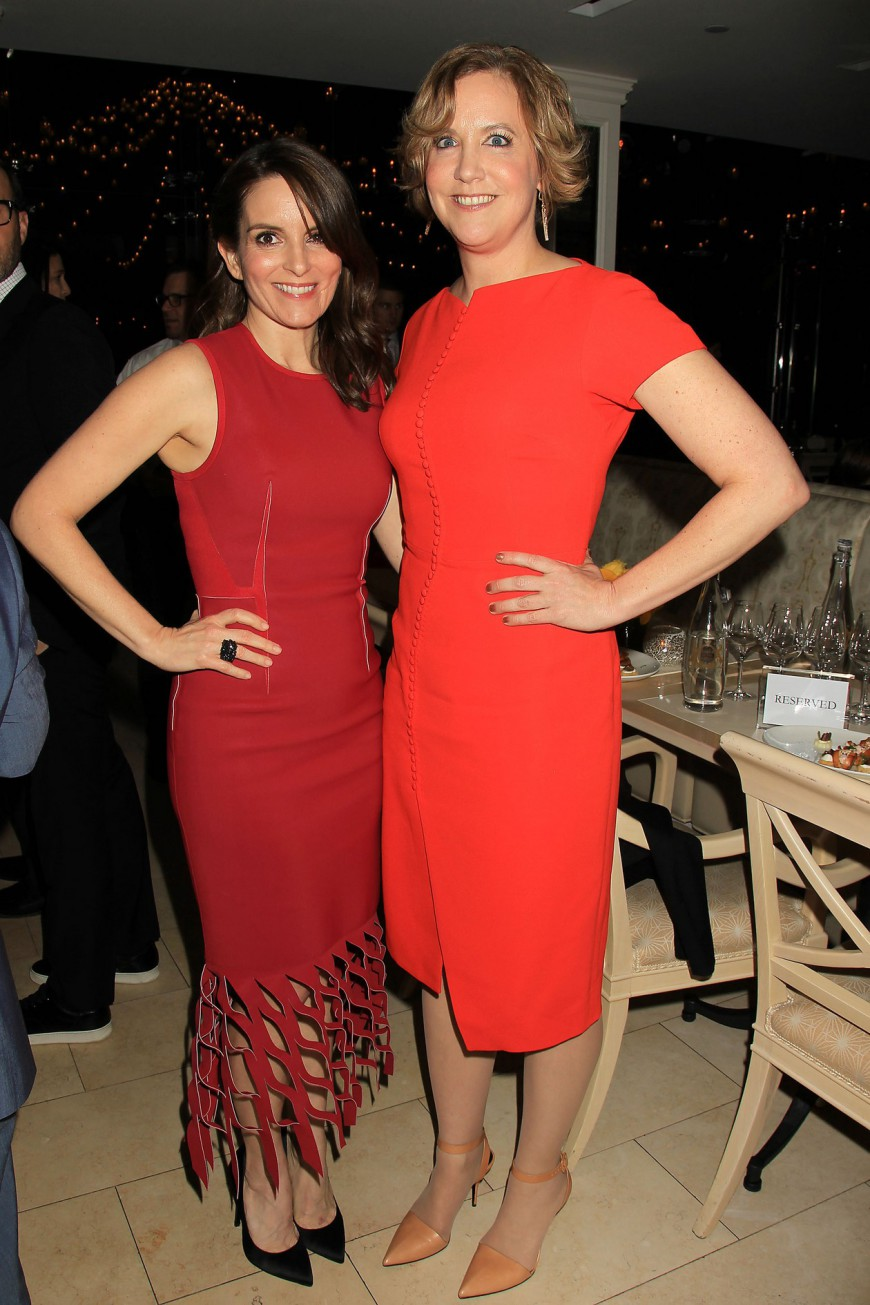 Tina Fey and Kim Barker at the Whiskey Tango Foxtrot Red Carpet Premiere