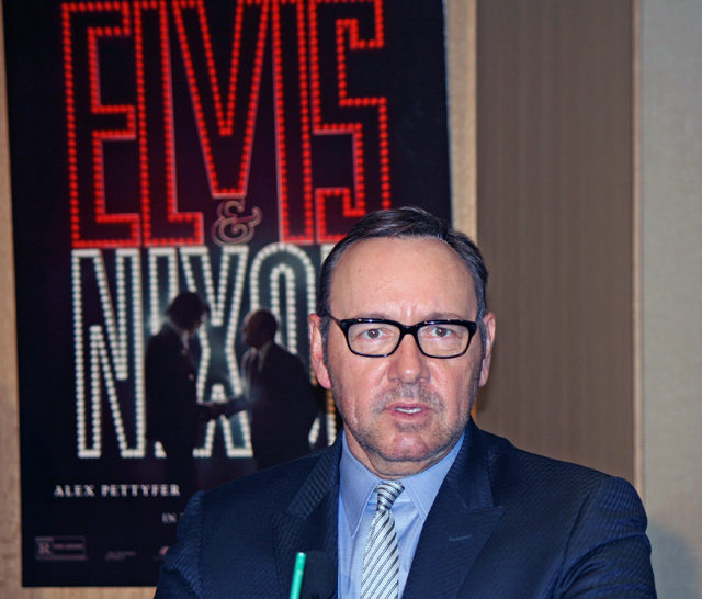 "Kevin Spacey at the ""Elvis & Nixon"" press conference in New York 