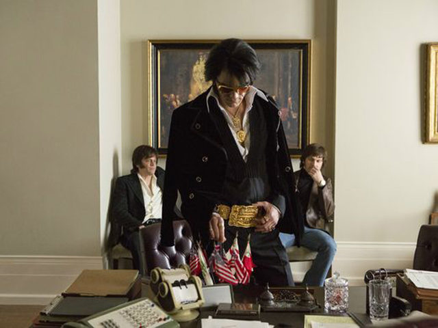 Johnny Knoxville, Michael Shannon, and Alex Pettyfer in Elvis & Nixon | Amazon Studios & Bleecker Street Photo