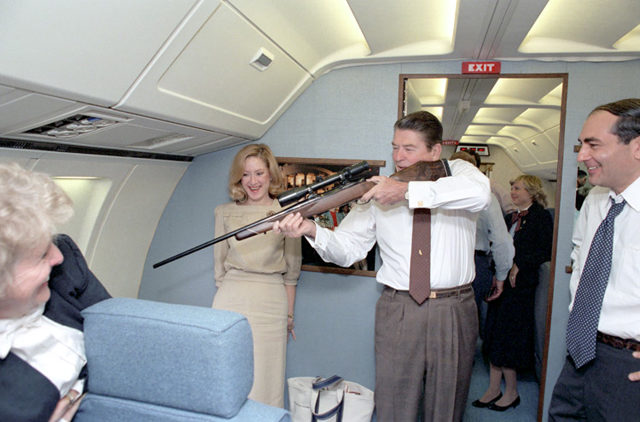"""A still from """"Shadow World"""" of an image supplied by the Reagan Library"""
