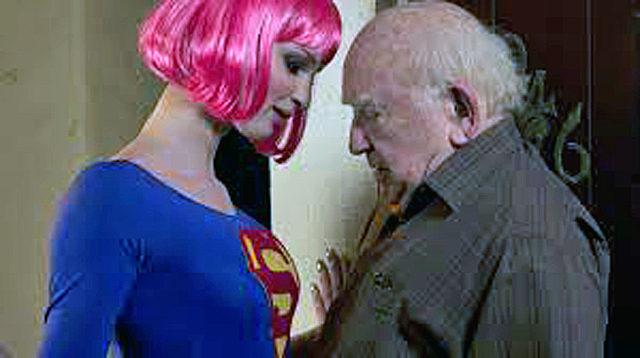 """A still from """"Super Sex"""" starring Ed Asner"""