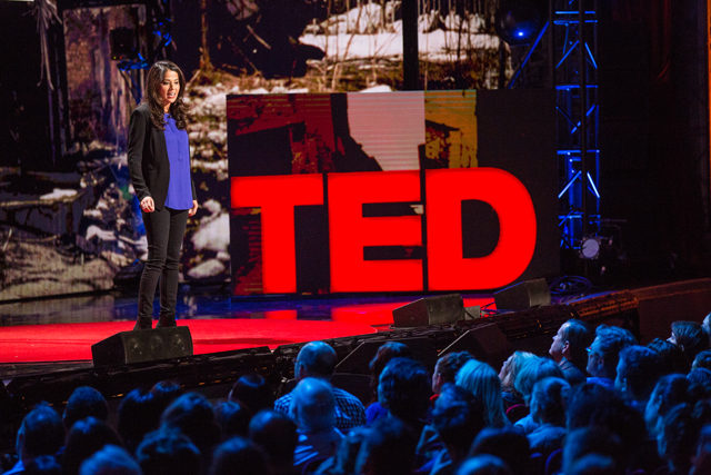 Jamila Raqib speaks at TED Talks: War and Peace | Ryan Lash/TED Photo