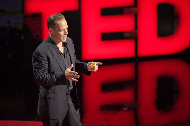 Sebastian Junger speaks at TED Talks: War and Peace | Ryan Lash/TED Photo