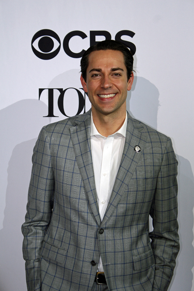 "Zachary Levi is nominated for his leading role in the musical ""She Loves Me"" 