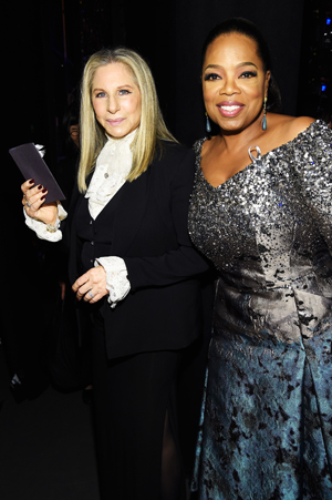 Barbra Streisand and Oprah Winfrey at the the 70th Annual Tony Awards at The Beacon Theatre on June 12, 2016 in New York City | Kevin Mazur/Getty Images for Tony Awards Productions Photo