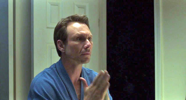 "Christian Slater as a gay porn filmmaker in ""King Cobra"""